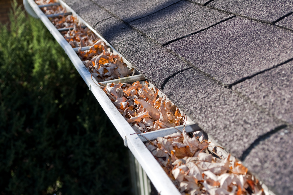 Gutter cleaning by landscape contractors in Northbrook, Glenview, Buffalo Grove, IL
