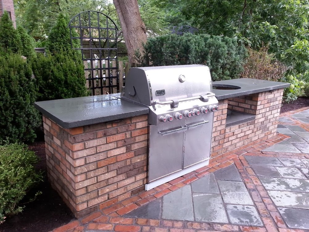 Glenview, Illinois top patio pavers and outdoor kitchen