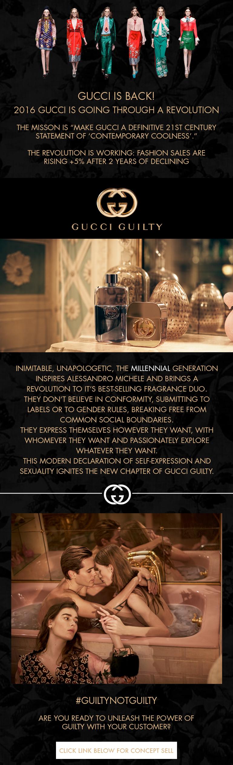 Design Digital Newsletter for Gucci Guilty