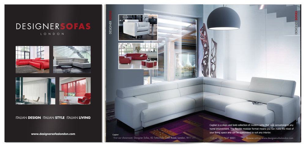 Design and Artwork for Designer Sofas Brochure