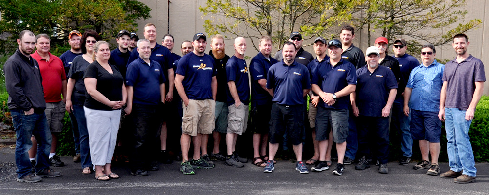 A rare group photo of our Service & Install Teams in the Spring of 2016