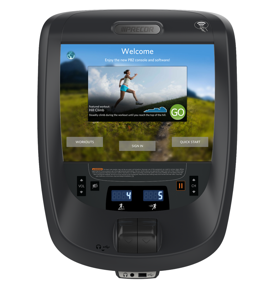 Networked cardio by Precor - Explore the world of cardio that's wireless internet ready and equipped with popular apps such as Netflix, Hulu, Spotify, and more.