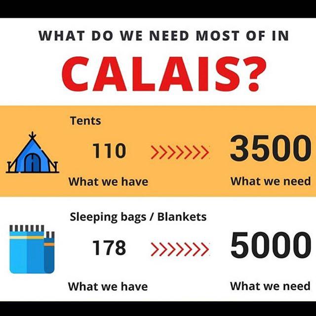 Calais is running low on supplies if you can help email Calaisdonations@helprefugees.or @helprefugeesuk #chooselove