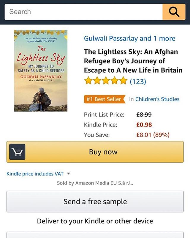 If you haven't read this we highly recommend you do ! https://www.amazon.co.uk/gp/aw/d/B010KMZU2U/ref=tmm_kin_title_0?ie=UTF8&qid=&sr= @gulwali_passarlay #TheLightlessSky 