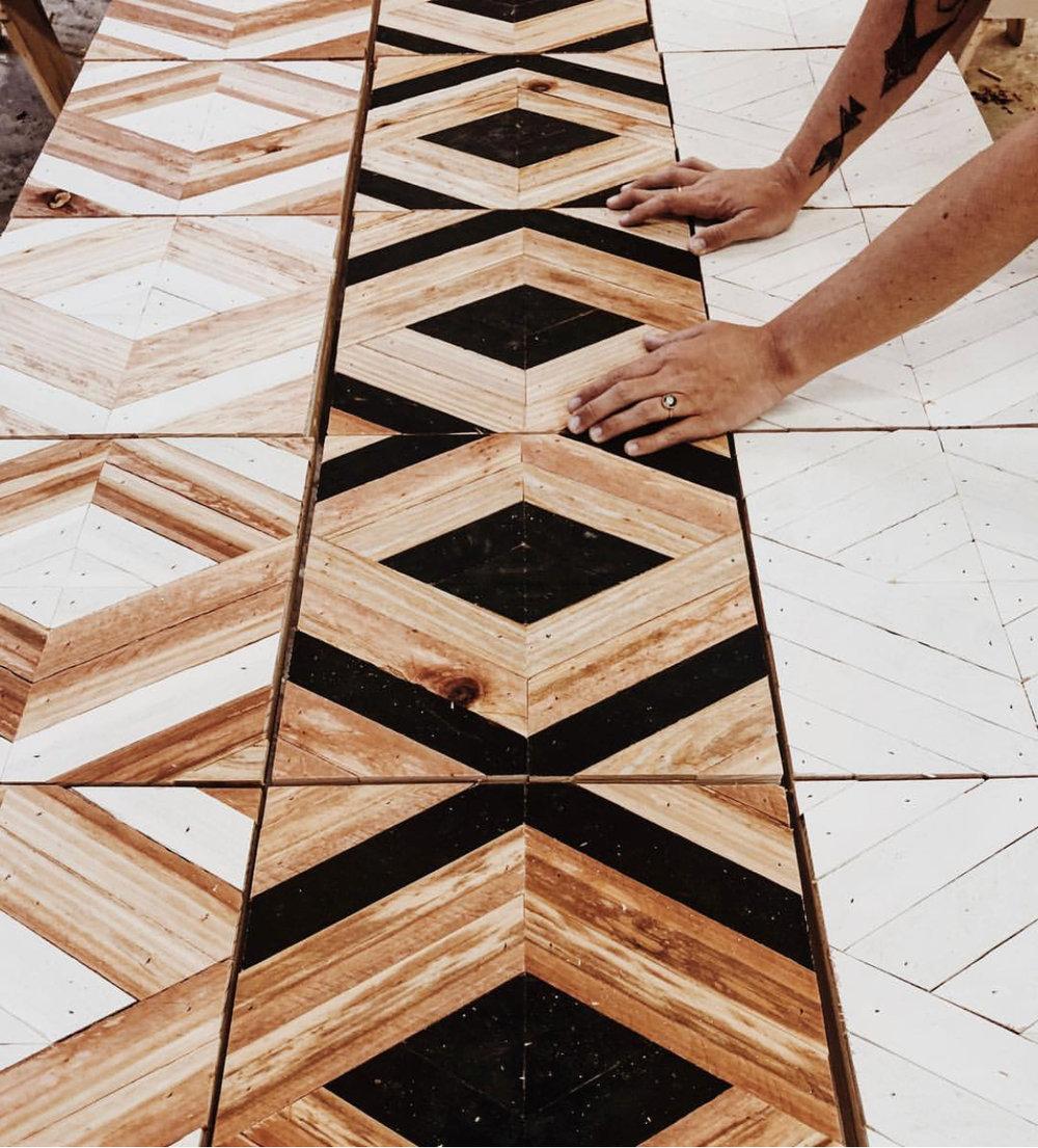 Aleksandra Zee's wooden squares
