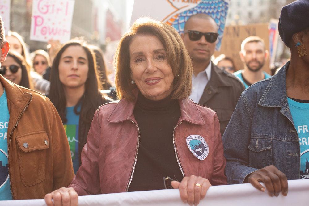 """Speaker Nancy Pelosi at San Francisco Women's March"" photo by Tumay Aslay"