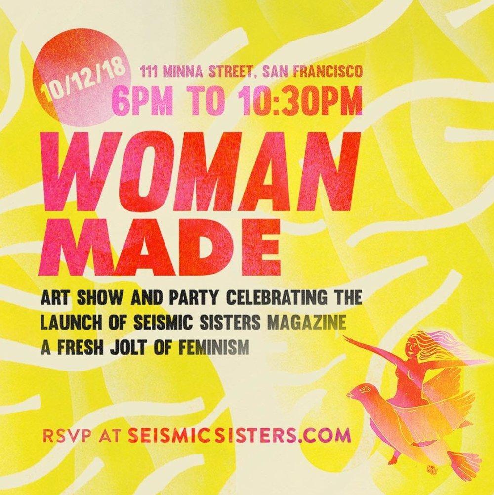 Woman Made Art Show Poster by Tori Seitelman