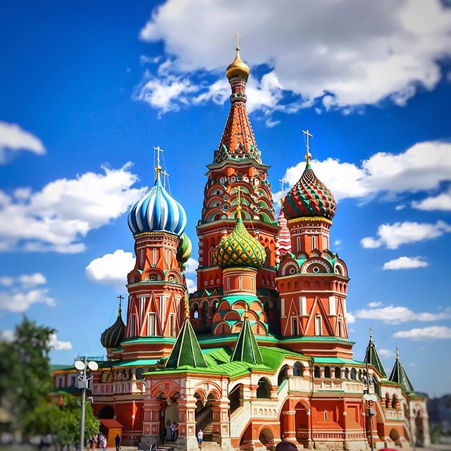 The famous Saint Basil's Cathedral is located in Moscow, Russia's Red Square. It was built in the 16th century in what was a completely novel architectural style and is still recognized throughout the world for its uniqueness.