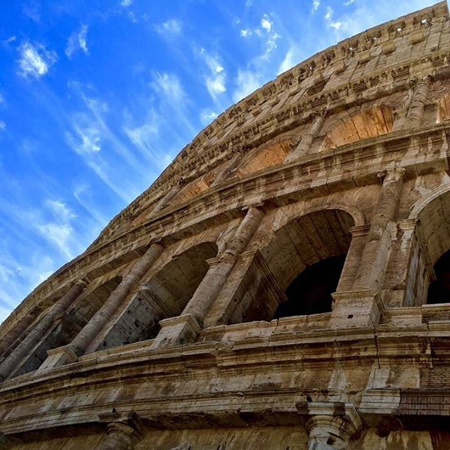 The Colosseum in Rome is aptly named, as it is the largest amphitheater ever built. It was constructed in the first century AD, and can still be visited to this day 🇮🇹 Is this wonder of the ancient world on your bucket list?