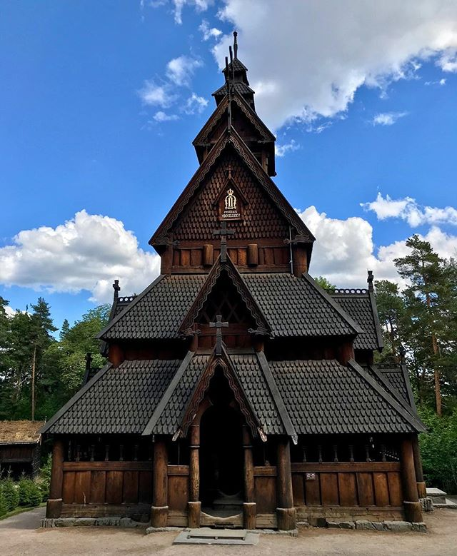 The stately and stunning Gol Stave Church was likely built in the 12th century in Norway. This historic wooden structure now stands, rebuilt and renovated in the 1800s, in Olso.