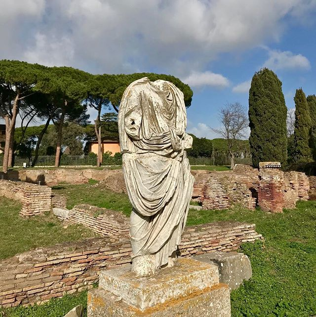 A reminder of greatness in Ostia Antica, Ancient Rome's ruined seaport city.