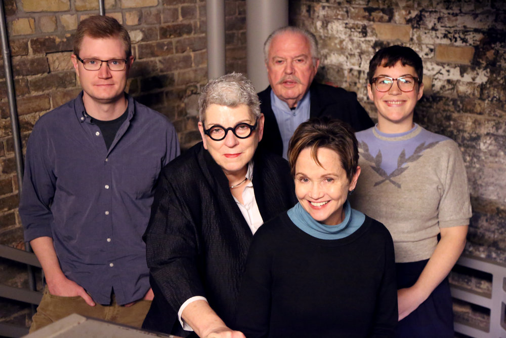 The American Craft magazine team   L to R: Robert O'Connell, Associate Editor; Mary K Baumann [cq], Creative Director; Will Hopkins, Creative Director; Monica Moses, Editor in Chief; Megan Guerber, Associate Editor. Not pictured: Judy Arginteanu, Copy Editor.