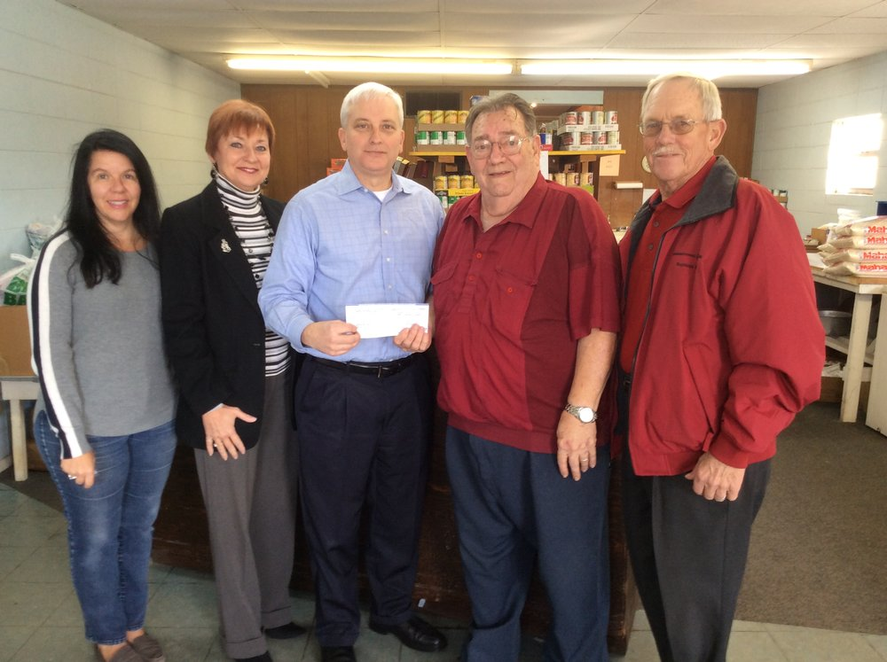 Bogalusa Health Center Grant. Picture from the left: Fund for Bogalusa Advisory Committee includes: Elizabeth Roberts, Joannie Miller, Ryan Seal, Gene Hayman, Volunteer President, Bogalusa Help Center and Ellis Sampson, FFB