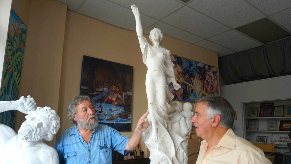 Franco with model sculpture with charles 1.jpg