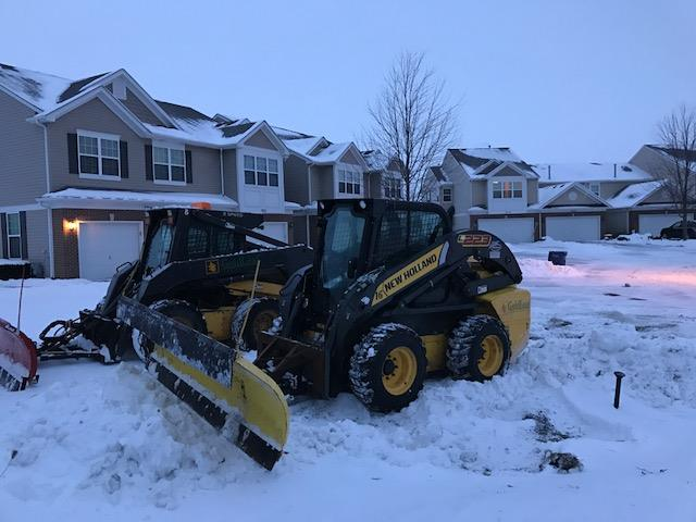 Commercial snow removal in Burr Ridge, IL