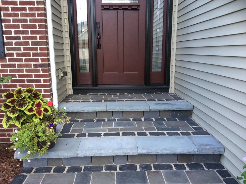 Renovated brick paving steps in Oak Brook, IL