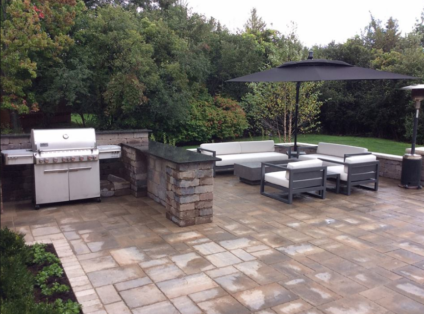 Outdoor Patio Commercial Landscaping Naperville Il Brick