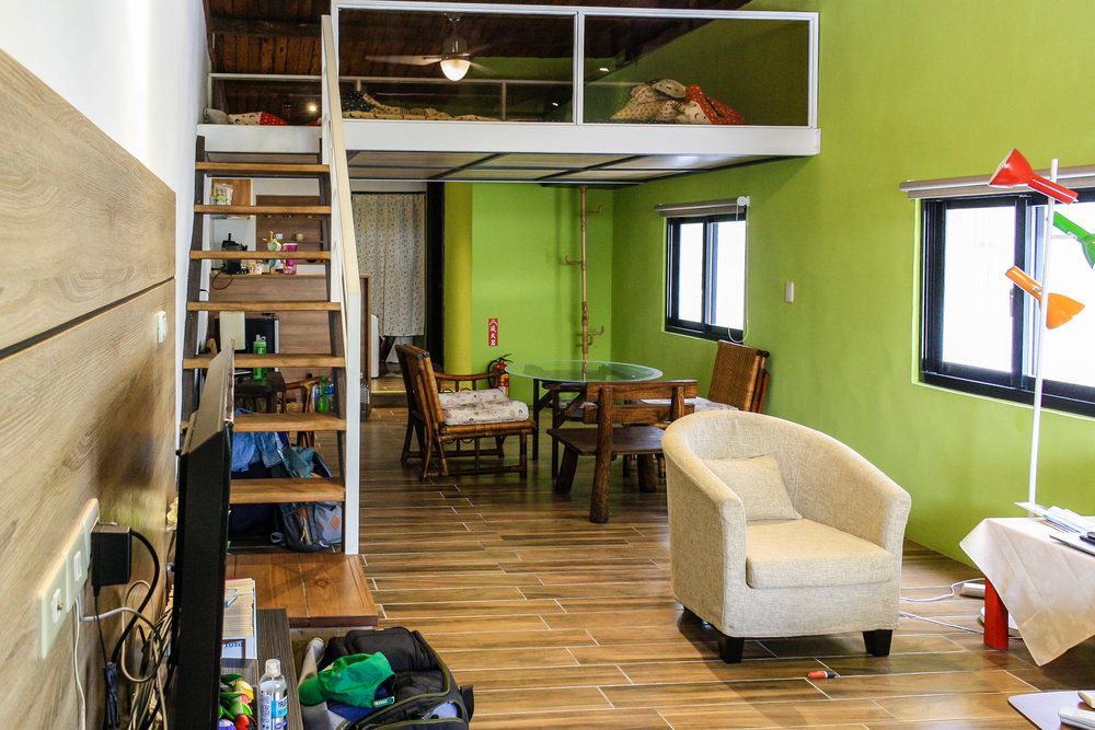 Our little loft in Hualien, Taiwan for $700/month. We found in on Airbnb.