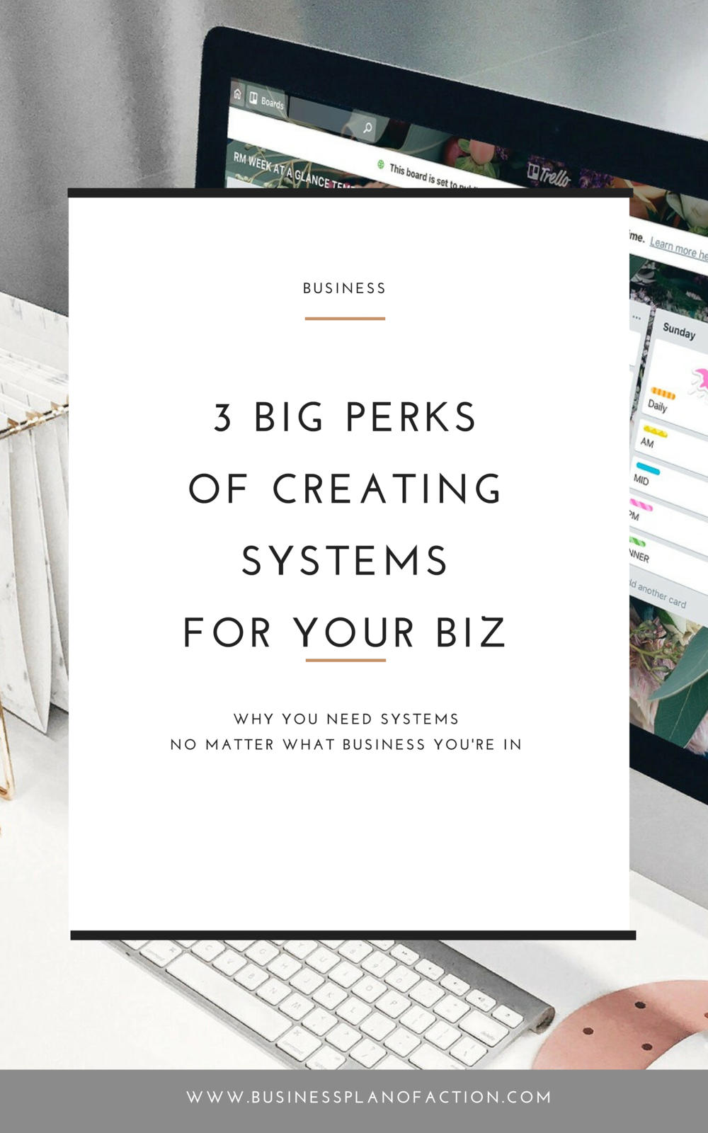 You know you need systems, but you haven't set them up yet. Learn 3 big perks to setting up systems—and grab a free tool to get started!