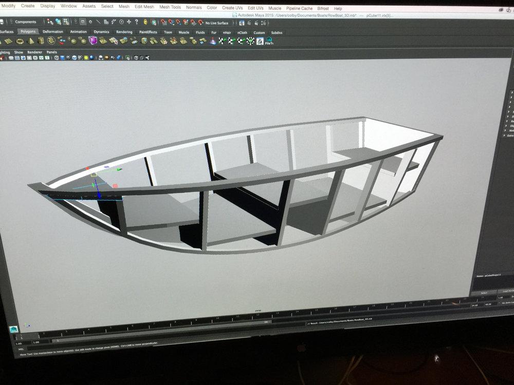 Initial design in Maya 3D