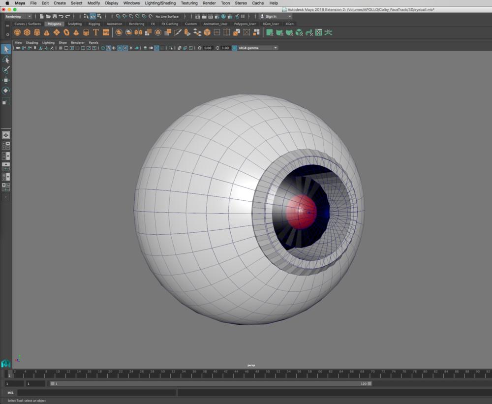 Building the robot eye in Maya