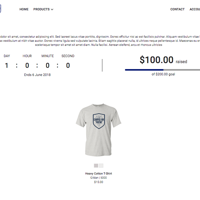 Fundraising - Use our online stores to raise money for your charity or organization. Check out a sample