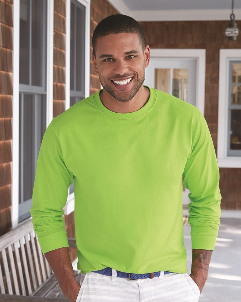 Hanes Tagless Long Sleeve T-Shirt