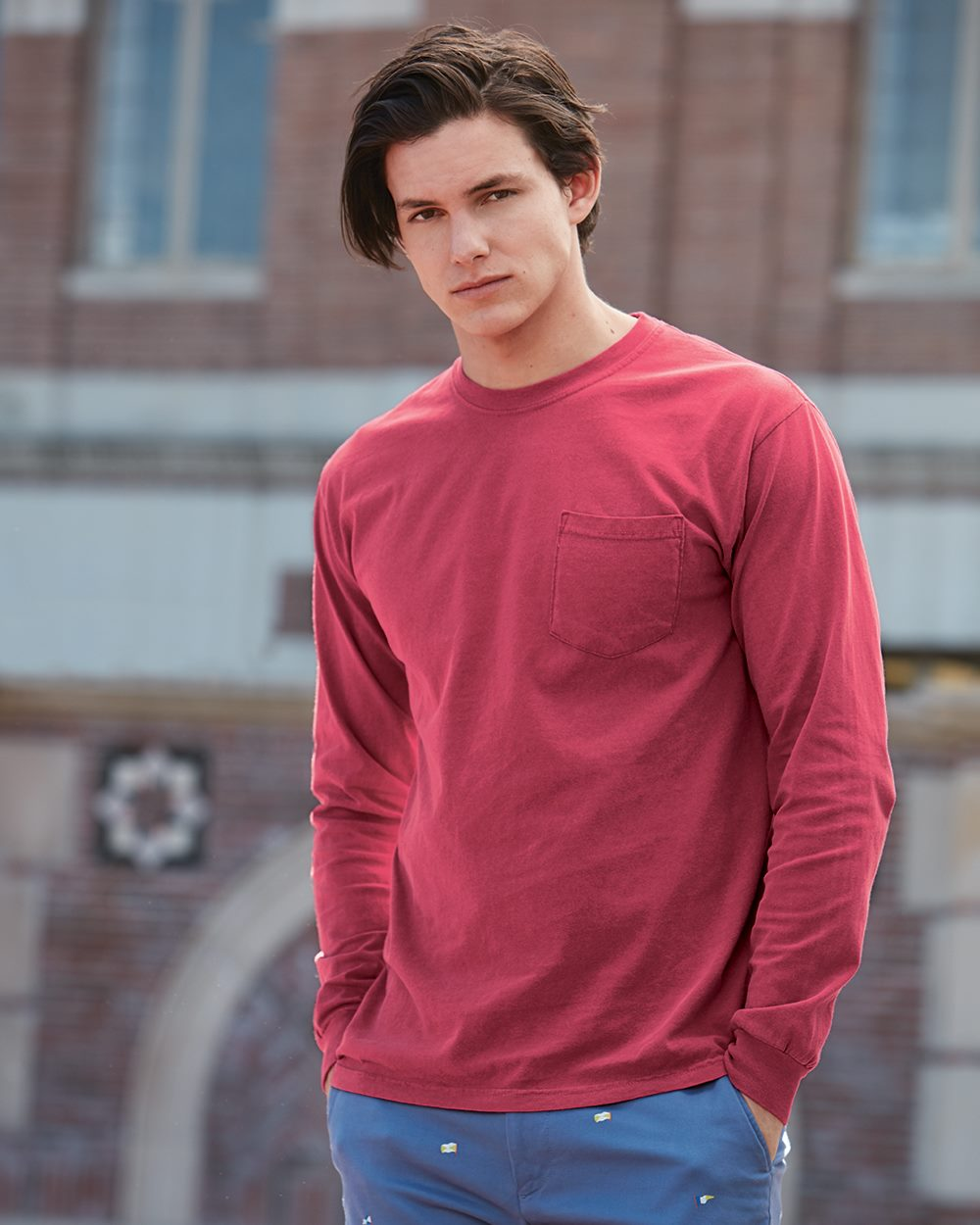 Comfort Colors Heavyweight Ringspun Long Sleeve Shirt W/ Pocket