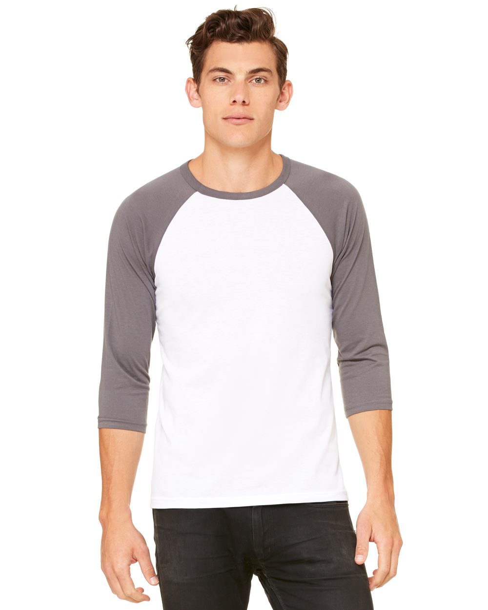 Bella + Canvas Unisex Three-Quarter Sleeve Baseball T-Shirt