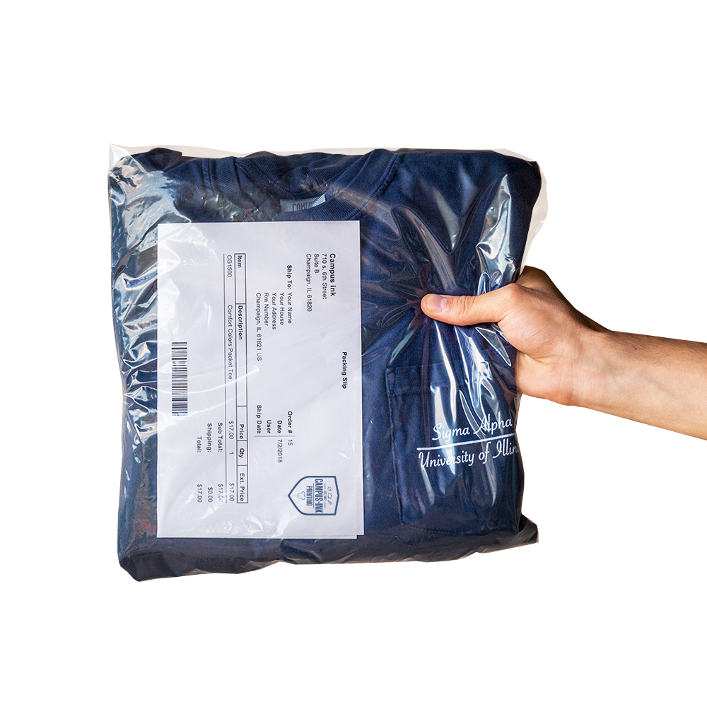 Bag 'N Tag - Your shirts will arrive individually wrapped  and labeled. Just another way we go above and beyond.