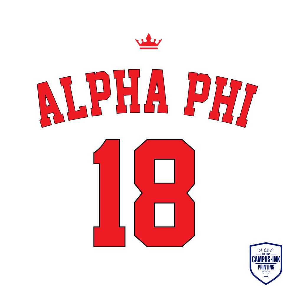 Alpha Sig Jersey Back
