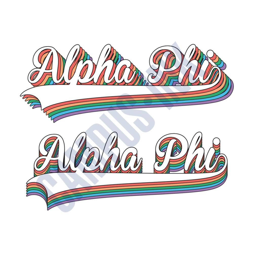 Alpha Phi Rainbow
