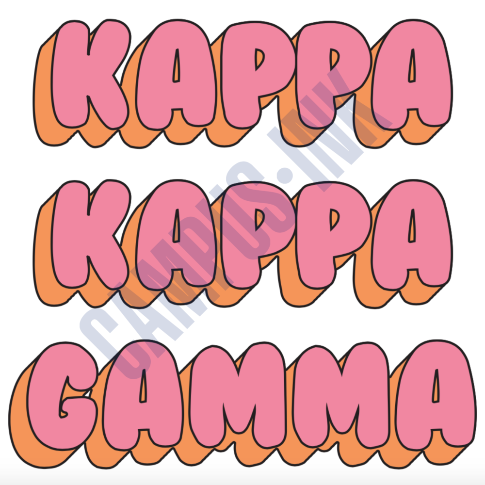 KKG Bubble Letter