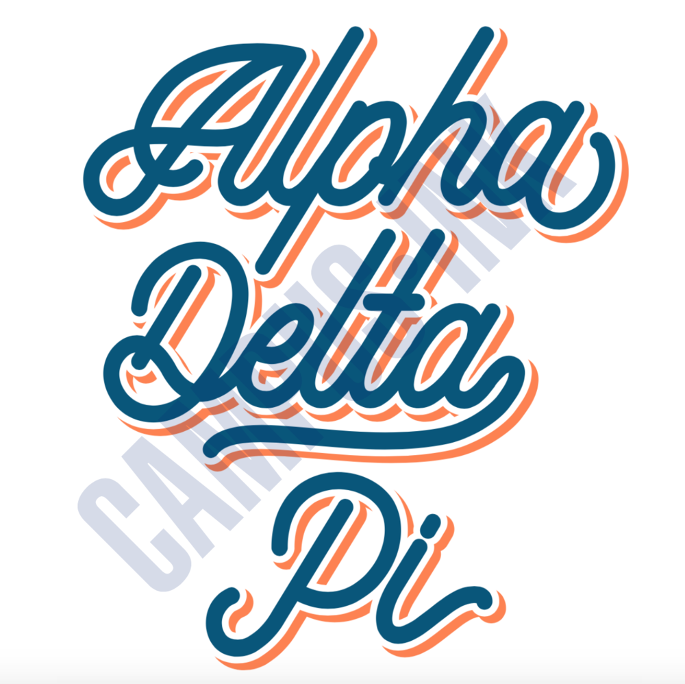 ADPi Orange and Blue