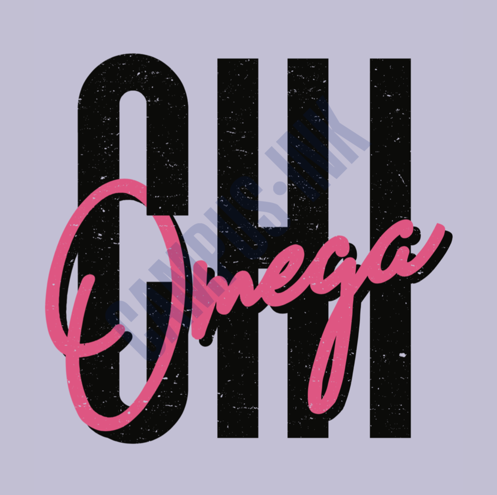 Chi Omega Pink and Purple