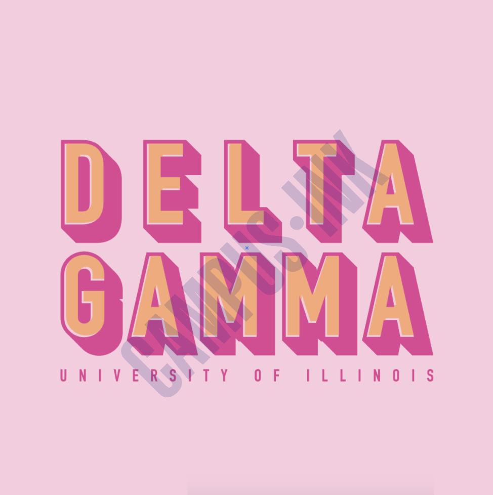 DG Pink Block Letters