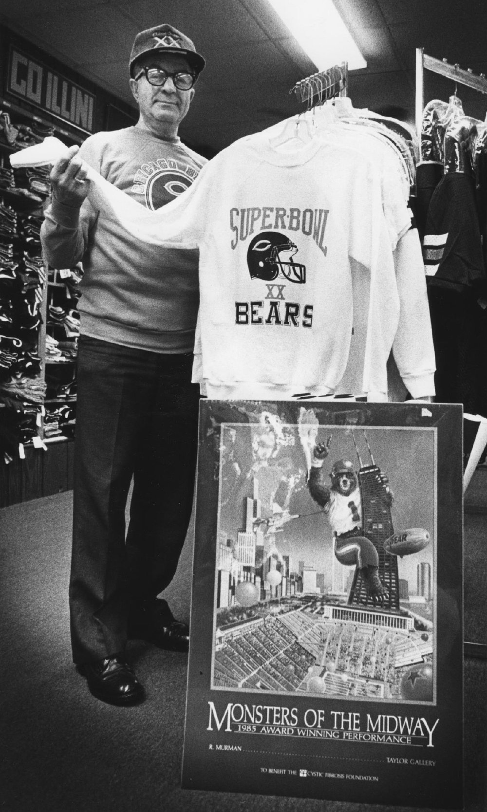 Tom's Grandfather and Super Bowl Sweatshirt
