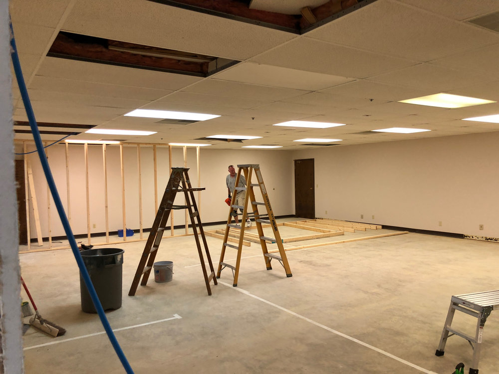 Office area of our new location