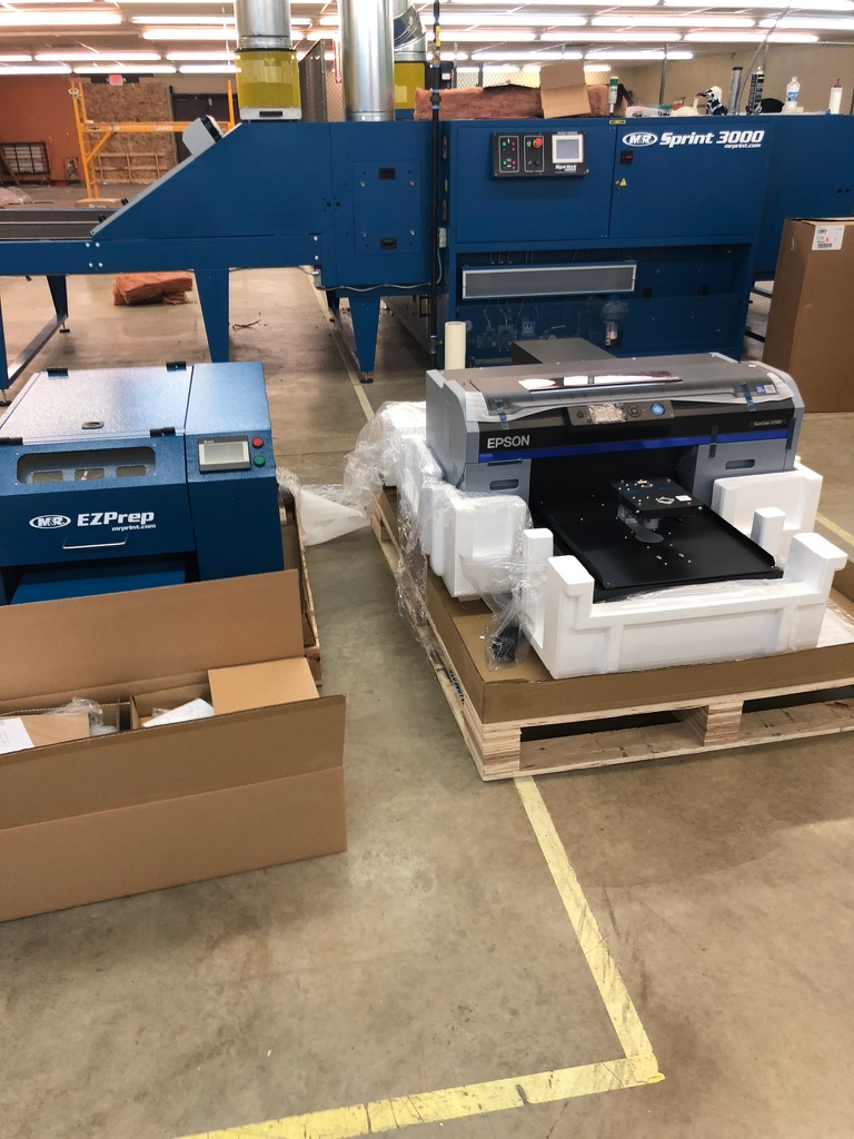 The new Direct-To-Garment printer!