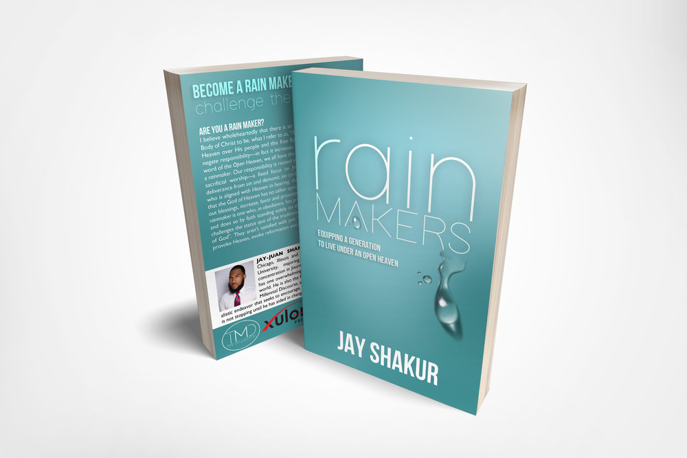 RAINMAKERS by Jay Shakur - ARE YOU A RAINMAKER?I believe wholeheartedly there is an Apostolic—Prophetic call for the body of Christ to be what I refer to as RAINMAKERS! The Lord has opened Heaven over His people and this free flow of heavenly resource does not negate responsibility in fact it increases it. As a response to the prophetic word of the Open Heaven we all have the responsibility and the calling to be a RAINMAKER. Our responsibility is rooted in obedience and cultivated through sacrificial worship, a fixed focus on Jesus Christ alone and intentional deliverance from sin and demonic sin cycles. A RAINMAKER is simply a believer who is aligned with Heaven in hearing, thinking, and living to such an extent that the God of Heaven has no other option, no other choice but to pour out blessings, increase, favor and provision, in every area pertaining to life.