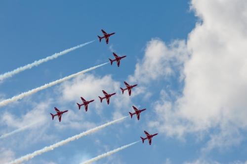 Red Arrows at Farnborough Air Show