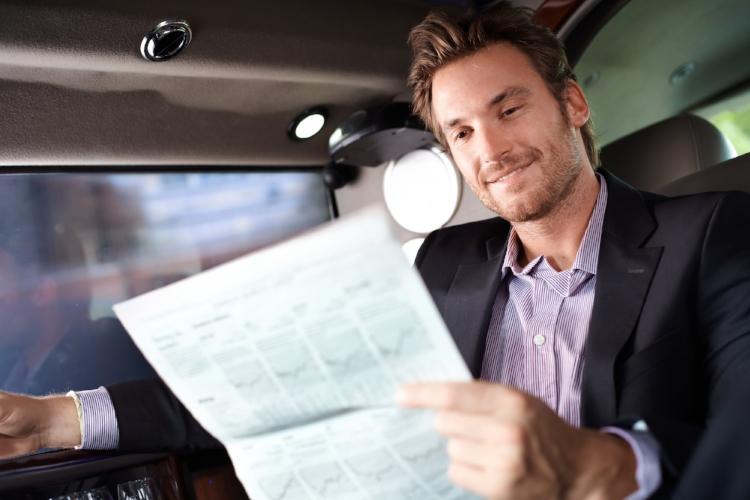 Business Man Chauffeur Car