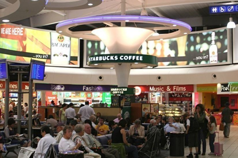 Shopping at Luton Airport
