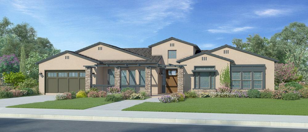Plan 1A - California Ranch - 3216 sf or w/ casita - 3,464 sf