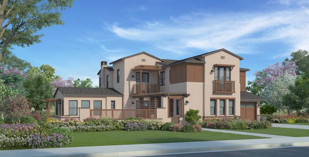 Plan 4A - California Ranch w/ casita - 5,016 sf