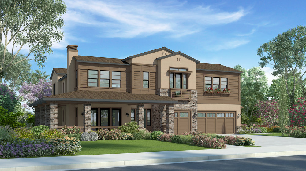 Plan 2A - California Ranch w/casita - 4,764 sf
