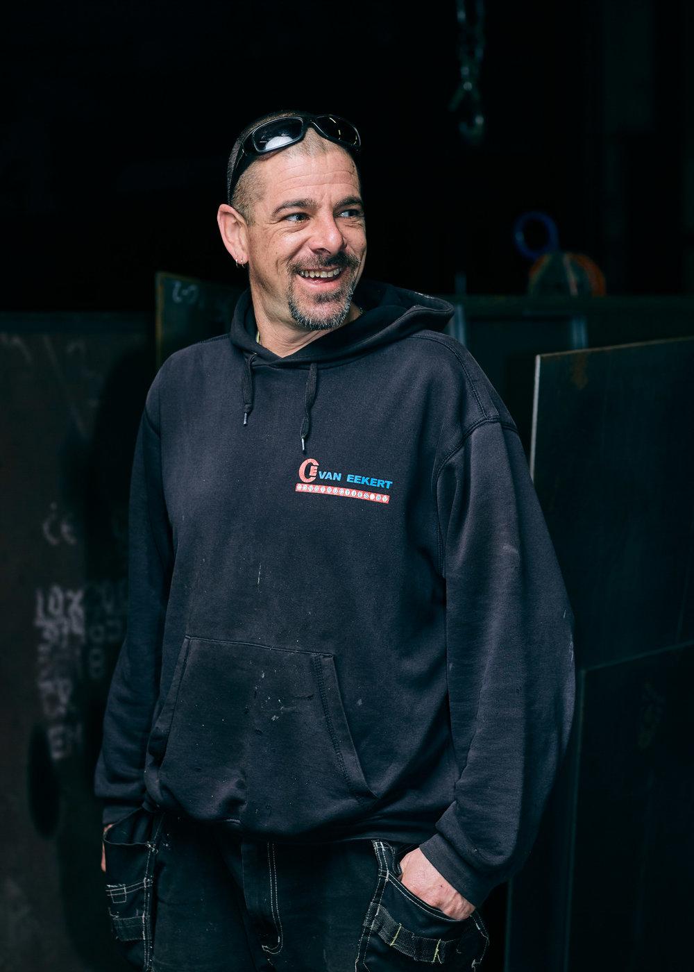 Portret van een medewerker van Van Eekert Constructies in Bladel