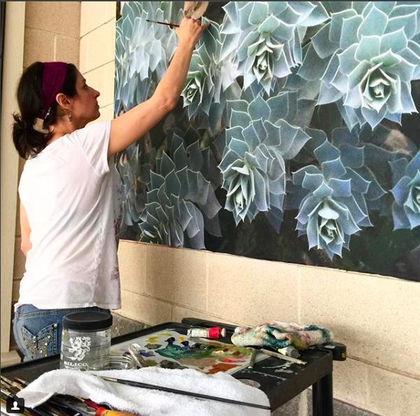 Lauren's Mural for the West Bend Public Art Program
