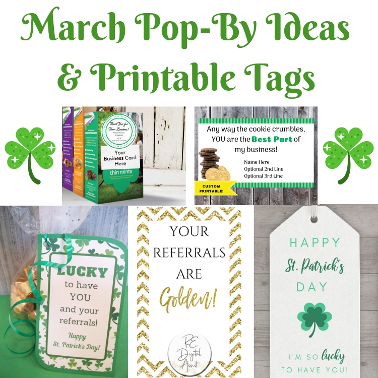 graphic regarding Printable Pop by Tags titled Pop-By way of Suggestions for March + Printable tags Amanda Behm ¤ Genuine