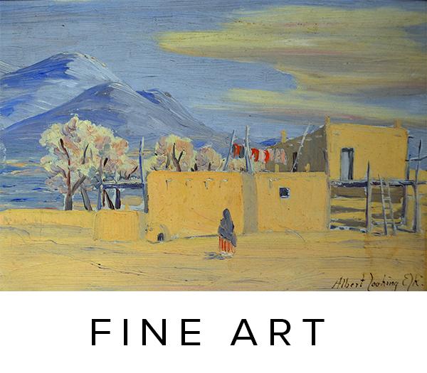 Historic fine art, folk art, American Western painters; fine art, paintings, drawings, prints.